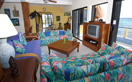 another view of the living room at casa caribena vacation rental villa