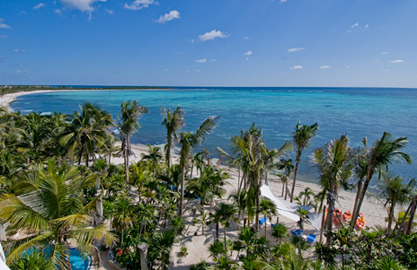 Views of Soliman Bay from the roof of your luxury beachfront vacation villa on the Riviera Maya