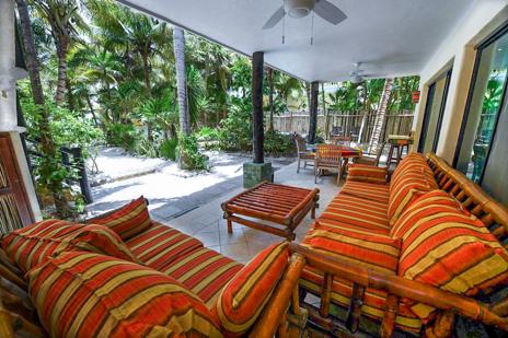 Main patio near the pool at Villa Palmeras Soliman vacation rental home