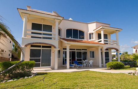 Oceanside of the  Twin Palms vacation rental villa in Akumal