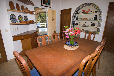 Dining area at Twin Palms Akumal vacation rental home