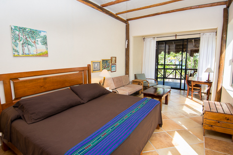 Bedroom #3 at  Casa Yamulkan has patio, private bath and seating area