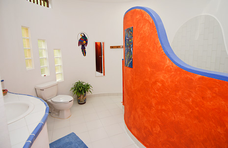 Bathroom at Nah Yaxche vacation rental home on Soliman Bay