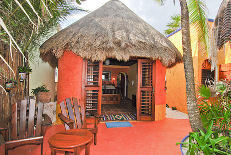 Casita at Nah Yaxche vacaton beach bungalow rental on Soliman Bay